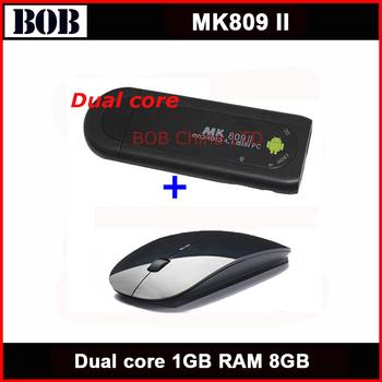 TV Box MK809 II Android 4.1 TV Stick HDMI Dual core 1GB RAM 8GB Bluetooth MK809II 3D + Wireless super slim mouse