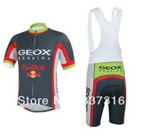 men ciclismo! 2013 Geox Team Cycling Jersey Short Sleeve and bib Shorts ropa mountain bike / cycling clothing
