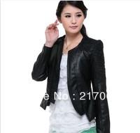 2013 Spring - Autumn Leather - Female Models Slim Short Jacket - Lace Free Shipping