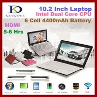 KINGDEL laptop computer 10 Inch Netbook,Intel Atom N2600 Dual Core 1.6Ghz CPU,2GB RAM,250GB HDD, VGA, HDMI, 4400MAH Battery