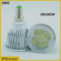Wholesale (5pieces/lot)LED E14 3W4W/5W  LED Downlight LED Bulb Light Spot Light white/warm white free shipping