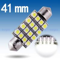 41mm 16 SMD Pure White Dome Festoon C5W 16 LED Car Light Bulb Lamp Parking Car Light Source