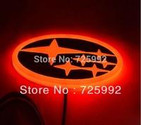 Free shipping led car logo light 4d led auto light car led logo subaru