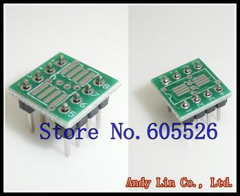 80pcs/LOT SO8 MSOP8 SOIC8 TSSOP8 SOP8 turn DIP8 IC adapter Socket / Adapter plate PCB  (NO IN Pin Header)