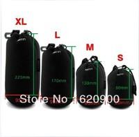 100% GUARANTEE1 pcs  Soft Neoprene Lens Pouch Case Bag L size for  Canon EOS Nikon Sony Len 10cm x 18cm