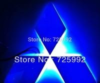 Free Shipping ! car LED badge light ,car led emblem car led logo for Mitsubishi Zinger