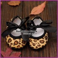 Leopard print infant Ballerina girls shoes Crib Prewalker moccasins for kids anitslip casual baby booties #2B2024  3pair/lot