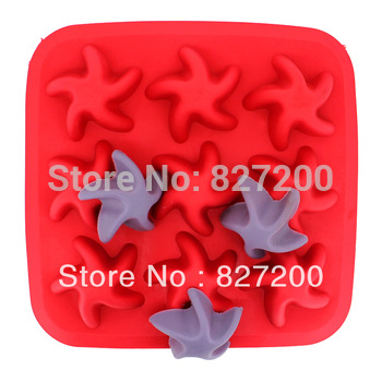 Free shipping (10pcs/lot) DIY handmade ice cube mold pudding jelly dessert mould ice tray mould chocolate mould ice pattern star