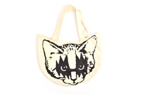 Free shipping# Japan Muchacha Super Cute Cat Face Tote Bag Tote Lunch Carry Tote Bag~