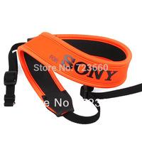 Orange with Black Logo Camera Neoprene Neck Shoulder Strap for Sony A100 A200 A300 A350 A230 A330 A380 A700 A900 DSLR