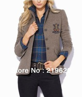 NEWEST Womens Jackets Blazer Brand Casual Grey Cotton Suit for Girls Drop Shipping