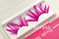 2 Pairs/lot  No.423  / high quality Pink  Feather Eyelashes for Party or Cosplay