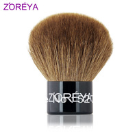 Professional zoreya short shank portable single top make up brush, blush brush ,powder brush ,loose powder brush