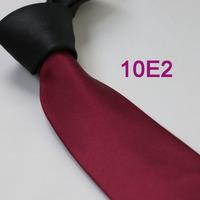 Coachella Men's ties Black Knot Contrast Burgundy Red Tie Jacquard Tie gravata Formal Necktie for men dress shirt Wedding cravat