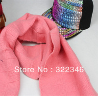 2013 New Knitted Square Grid Scarves Autumn And Winter Scarf For Women Cute Knit Dry Acrylic Long Design Shawls