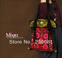 Women Bag Brand Fashion Miao Embroidery Handbag Women 2013 Personalized/Multi-used Bags/Totes Bohemia Canvas Bag