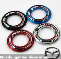 Mazda 6 key ring MAZDA 3 ignition switch decoration stickers car aluminum alloy products