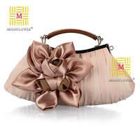 Bridal Bridesmaid Fashion Women's Handbag Evening Party Banquet Dress Bag Big Flower Clutch Purse Tote Bag 6 Colors 8662