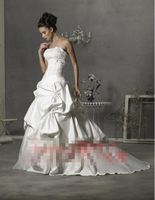 Free shipping 2013 newest women euro sexy pleat embroidery tiered small train fashion wedding dresses