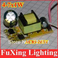 led power driver 20pcs/lot,(4-7)x1W Common Use led driver,4w5w6W7W lamp transformer 85-265V for LED DIY free shipping