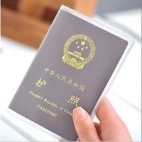 Free Shipping Waterproof  Passport Cover Protective Testificate Scrub Case Transparent PVC Card Case 4819