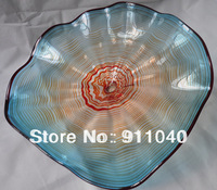 10pcs plate--Multicolor Different Size Murano Wall Hanging Plates