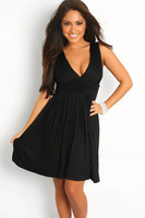 New Fashion Dress Summer 2013 Sexy Lady One Piece A Line Black Dresses Mini Evening Party Dress Club