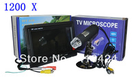1200X Digital TV Microscope With 7inch LCD/Moniter High Resolution Electron Microscope