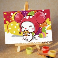 JIUJIU DIY digital oil painting Free shipping the picture unique gift home decoration 10X15cm Sugar Sugar paint by number
