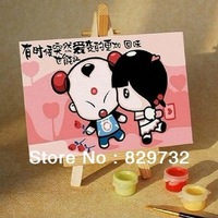 JIUJIU DIY digital oil painting Free shipping unique gift home decoration 10X15cm Lucky naughty girl paint by number