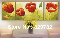 JIUJIU Free shipping picture DIY digital oil painting unique gift home decoration 40X120cm Red tulips paint by number