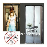 Retail Free Ship 1pcs/lot 200cm L x 50cm W Magic Mesh Hand-Free Screen Door Curtain Net Magnetic Anti Mosquito Bug As Seen On TV
