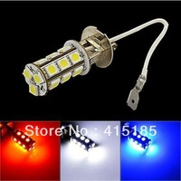 Freeshipping 2pcs/lot H3 led 5050 smd 18led car headlight bulb head lamp 12V 3w Pure White red blue