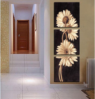3 Panel Free Shipping Hot Sell Modern Wall Painting    flower Home Wall Art Picture Paint on Canvas Prints art   chrysanthemum