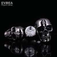 two fingers skull rings 18k gold plated biker vintage rings punk two finger rings for women stainless steel skull ring skull