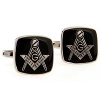 cool cuff links Black Color Masonic Cufflinks