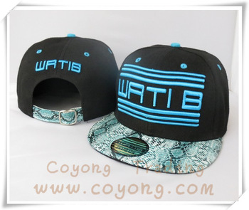 WATIB Snapback Adjustable hats Wati B WA52 black men's sports caps without min order!  snapback hats