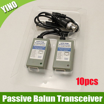 10 pairs/lot  Single channel Passive Twisted Pair POE UTP PVA Video Audio Balun Transceiver, transimtter distance up to 3000ft