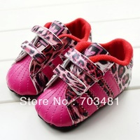 Free shipping new arrival fashion sports style kid shoes for girl,baby girl leopard print shoes