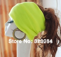 Free shipping,1pcs,Fluorescent color  Korean fashion hedging knitted cap ,2013 winter warm hats for women,hair band
