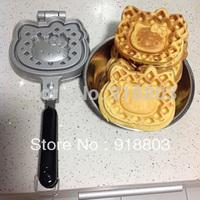 Stovetop KT Cat Waffle Pan Mold Iron