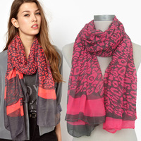 2013 New Design Long Worldwide Leopard Scarf,Poppy Print Polyester Scarf,Warm Shawl Wholesale,VOILE,95*180