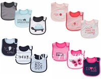 retail free shippingt Baby bib Infant carter 3-layer Baby Waterproof bib/Mark Carter Baby wear just handsome like daddy