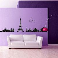 Miix Order Free Shipping 50*70cm Popular Paris Tower Romantic Wall Sticker Wall Mural Home Decor Room Decor Lovers