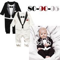 Romper 2013 Autumn Long sleeve Black/White One piece 100% Cotton Patchwork 80-95cm Infant costume Wholesale Drop shpping