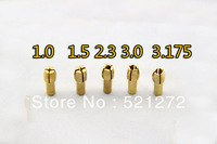 6 in 1 Delta dedicated electric mill collet chuck set universal chuck nut +5pcs Clip