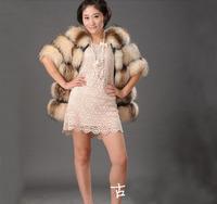 Free shipping new Design 100% nature raccoon fur ladies  fur coat  Warm leather stitching size: S M L XL XXL