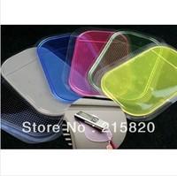 Free shipping wholesale 20pcs Powerful Silica Gel Magic Sticky Pad Anti-Slip Non Slip Mat for Car dvr GPS