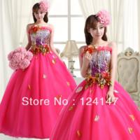 AQ2013 multicolour costume full dress costume evening dress design formal dress long dress