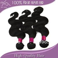 mixed length 12 14 16 18 20 22 24 26 28 30 free shipping DHL natural color cheap bundles virgin brazilian body wave